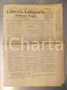 Dicembre 1900 PISTOIA Catalogo libreria antiquaria Tommaso BEGGI n° 171