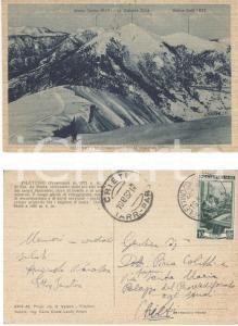 1952 FILETTINO (FR) Monte COTENTO Cartolina autografo Ettore PARATORE e Augusta