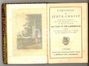 1910 ca LIMOGES L'Imitation de Jésus-Christ - abbé F. de LAMENNAIS *Ed. DEPELLEY