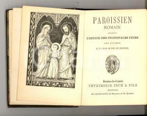 1896 PAROISSIEN ROMAIN Office des principales fetes *Imprimerie ZECH & FILS