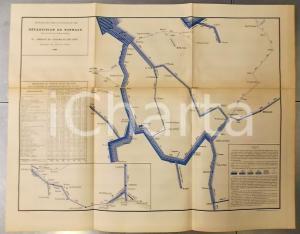 1885 FRANCE Tonnage voies navigables 1883 par marchandises - Est et centre n°16
