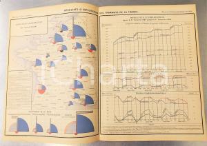 1885 FRANCE Exploitation des tramways en 1884 *Planche n°21 49x33 cm
