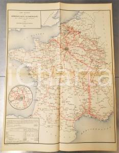 1885 FRANCE CHEMINS DE FER Recettes nettes kilométriques *Planche n°2 49x66