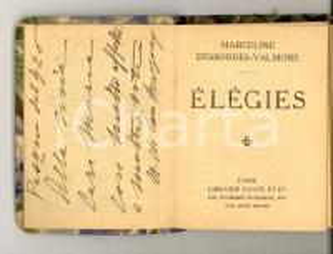 1920 Marceline DESBORDES-VALMORE Élégies *Librairie PAYOT Bibliothèque miniature