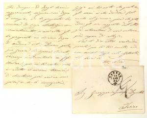 1861 VARESE Giulia GAVAZZI attende il marito Giuseppe SPERONI deputato *Lettera