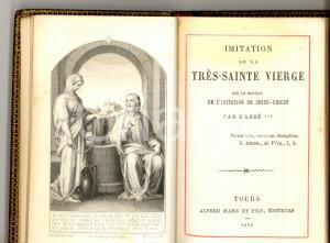 1890 Abbé *** Imitation de la trés Sainte Vierge *Ed. Alfred MAME' TOURS