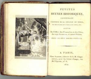 1812 Petites heures historiques - Création du monde *Ed. SAINTIN - PARIS