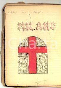 1911 MILANO Quaderno Letizia BELLONI Poesie Giosuè CARDUCCI *Manoscritto