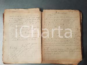 1911-15 MILANO Quaderno Letizia BELLONI Poesie e aforismi *Manoscritto 190 pp.