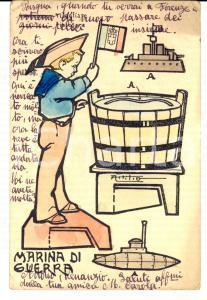 1917 MARINA DI GUERRA Cartolina ill. ATTILIO Maria Carola a Venanzio SELLA