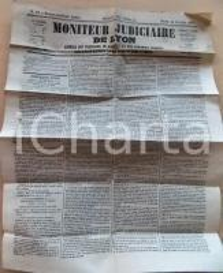 1873 LYON Moniteur judiciaire - Instance de la Compagnie Lyonnaise des Omnibus