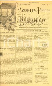 1886 GAZZETTA DEL POPOLO DELLA DOMENICA Casimiro TEJA *Giornale anno IV n°5