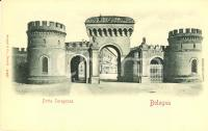 1900 ca BOLOGNA Veduta di Porta SARAGOZZA *Cartolina FP NV