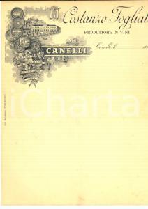 1920 CANELLI (AT) Costanzo Fogliati produttore di vini *Carta intestata