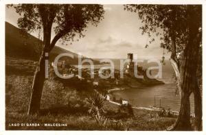 1938 MALCESINE (VR) Veduta panoramica paese sul Lago di GARDA *Cartolina FP NV