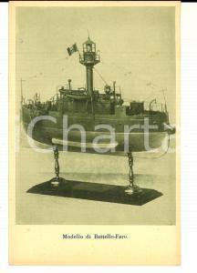 1915 ca MILANO Museo UNIONE MARINARA ITALIANA Modello battello-faro *Cartolina