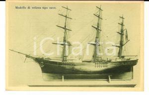 1915 MILANO Museo UNIONE MARINARA ITALIANA Modello veliero tipo nave *Cartolina