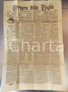 1901 BARI CORRIERE DELLE PUGLIE L'on. ZANARDELLI e la lotta di classe *Giornale