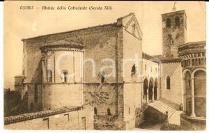 1919 OSIMO (AN) Abside della cattedrale *Cartolina conte GALLO al conte UBALDINI
