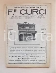 1925 NAPOLI Primaria Casa Musicale F.lli CURCI Canzoni napoletane *Spartiti