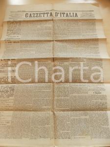 1878 GAZZETTA D'ITALIA Sede vacante dopo morte Pio IX *Giornale anno XIII n°50