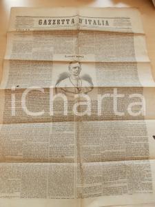 1878 GAZZETTA D'ITALIA Storia del pontificato di Pio IX *Giornale anno II n°9