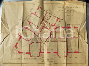 1928 SAVONA via BOSELLI Ing. ASTENGO Casa BOZZANO III piano *Planimetria 48x42