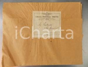 1930 ca TORINO Libreria FRATELLI TREVES *Fascetta per piego di libri