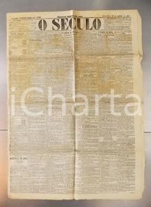 1901 O SECULO O syndicato da MAO-NEGRA BURNAY *Giornale anno XXI n° 7058