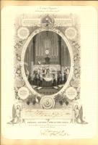1880 FRANCE Eglise SAINT GERMAIN Première Communion de Georges ADAM