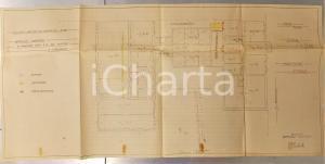 1960 ca MILANO BOVISA via BALDINUCCI Fabbricato S. A. OLI MINERALI Planimetria