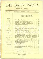 1893 THE DAILY PAPER National Theatre - Interview with miss ROBINS Vol. I n° 1