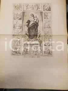 1800 ca ARTE SACRA Maria Regina Sacratissimi Rosarii *Stampa inc. MARABINI