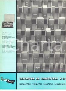 1972 FRANCE GRAVOGRAPH Catalogo dei caratteri n° 10 *ILLUSTRATO