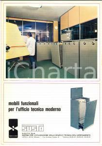 1970 ca MILANO Ditta SUSTA Mobili per ufficio tecnico *Catalogo ILLUSTRATO