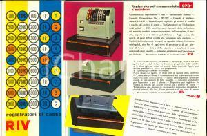 1970 ca TORINO Ditta RIV Registratori di cassa - Busta con cartoncini illustrati