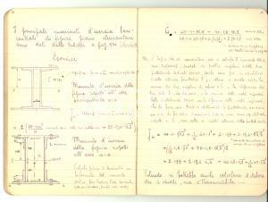 1940 ca Scuola GEOMETRI Allievo RONCORONI - Quaderno costruzioni 70 pp.