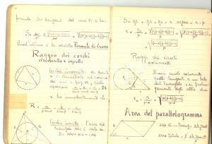 1940 ca Scuola GEOMETRI Allievo RONCORONI - Quaderno trigonometria 60 pp.