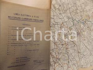 1945 ca Società ESTICINO Linea elettrica MELEGNANO-LANDRIANO-PONTELUNGO
