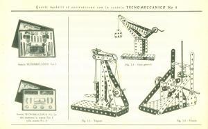 1960 ca TECNOMECCANO Opuscolo pubblicitari con esempi di costruzioni *ILLUSTRATO