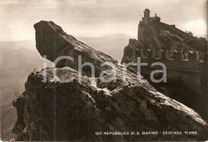 1952 REPUBBLICA SAN MARINO Panorama con Seconda Torre *Cartolina FG VG