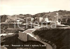 1960 ANCONA Monumento ai Caduti e scalinata a mare *Cartolina FG VG