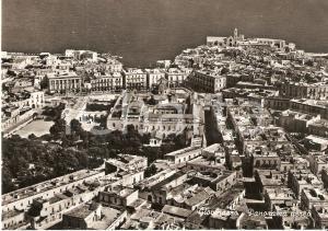 1955 ca GIOVINAZZO (BA) Panorama aereo della città *Cartolina FG VG