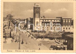 1957 PESCARA Panorama con Palazzo di Città e Ponte *Cartolina FG VG