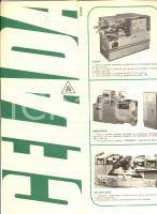 1970 ca MILANO Ditta CELADA Catalogo ILLUSTRATO Fresatrici e dentatrici