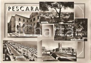 1953 PESCARA Casa Giacomo LEOPARDI Pineta d'annunziana Vedutine Cartolina FG VG