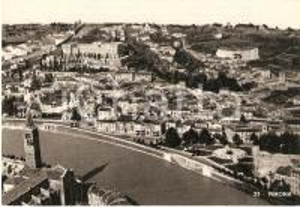 1950 ca VERONA Panorama con Castel San Pietro Teatro Romano *Cartolina FG NV