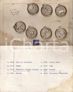 1965 ca NOVATE MILANESE Fratelli TANCI Sette medagliette sportive su cartoncino