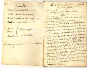 1770 ca METASTASIO Judith ou Béthulie delivrée - Copia francese manoscritta