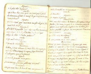 1770 ca METASTASIO THEMISTOCLE Pièce dramatique - Copia francese manoscritta